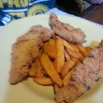 Chicken fingers and sweet potato fries