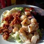 Shrimp Cobb salad (with beets)