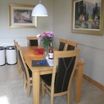 Dining table in kitchen/dining room
