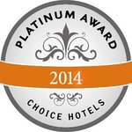2014 Choice Hotels Plutinum award