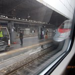 Padova Station from inside the Frecciargento