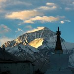 Rongbuk Monastery in foreground of Everest