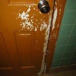 Inside bathroom door