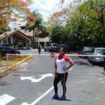 Llegando del entrenamiento al hotel Dominican bay...