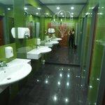 The restaurant bathroom