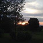 Coucher de soleil sur le golf