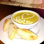 The house favorite, Coconut Curry Butternut Squash Soup!