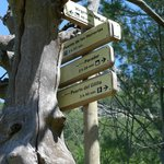 Signposts-note the hours-not a walk in the park!