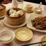 dim sums at harbor city in chinatown, london