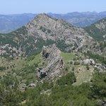 Rock formations from Loma de los Castellones