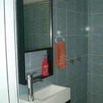 Bathroom w/shower.
