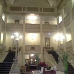 beautiful staircase in older part of the hotel