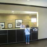 Front desk, Hampton Inn, Reno, Nevada