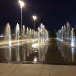 фонтаны за супермаркетом кэрэфуром