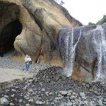 Hug Point Cave & Waterfall