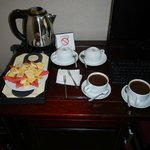 Coffee and Fruit in room upon arriving