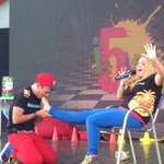 Ben and Paige on stage....very funny pair. Work very well together