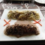 Braised Chicken on Morel sauce with Tagliatelle pasta
