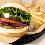 Recession Burger with fries