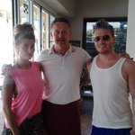 Matthew Wolfenden and Charley Webb from Emmerdale at Mona Lisa Bistro