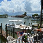 Outside seating and guest dock