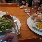 Lobster Tacos on left, Lobster Rolls on right