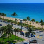 View of beach / A1A from room