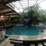 One of the pools closest to the dining area/bar