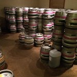 The beer ready for delivery at the brewery