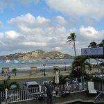Blick auf die Bucht von San Juan del Sur vom Balkon aus