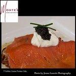 Smoked salmon with creme fraiche
