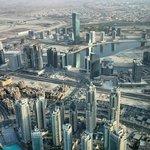 Вид на Дубай из At.mosphere Restaurant