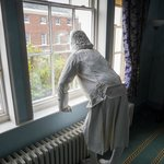 The ghost of Erasmus Darwin contemplates the town. Looking to the future.
