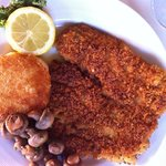 Wiener Schnitzel $24 Veal Cutlet, Breaded and Sautéed, Sautéed Mushrooms, Vegetable, Potato Puff