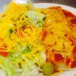 Wet Burrito Double Salad.