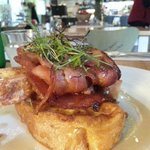 French Toast with Free Range bacon. Mmmmm