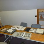 Upper level: photo collection detailing history of Iqaluit