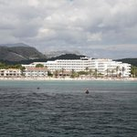 View of the hotel from the bay of Alcudia