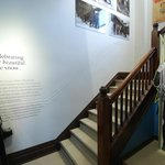 An exhibit showcasing the history of skiing in revelstoke
