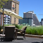 Vista parcial da cidade de Windhoek a partir da esplanada do hotel Hilton Windhoek