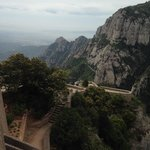 The view from Monserrat (serrated mountain)