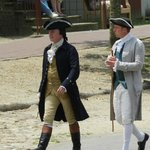 Gentlemen of Colonial Williamsburg coming to hear a pronouncement