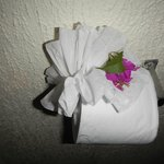 Lovely touches by housekeeping staff..
