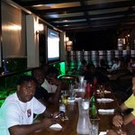 Bahamas rugby dinning at Danny's