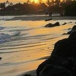 Sunset in front of Koa Kea.