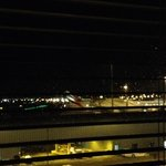 night view at the airport