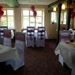 The Restaurant set for a wedding