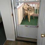 room 206 balcony, no privacy