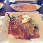 chile rellano, flauta and chicken enchilada...yum