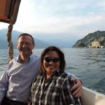 on the boat ride on Lake Como